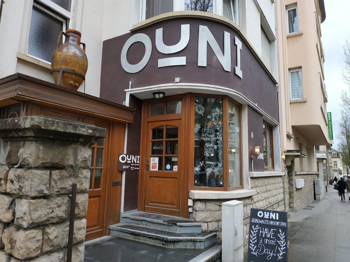 OUNI shop front door