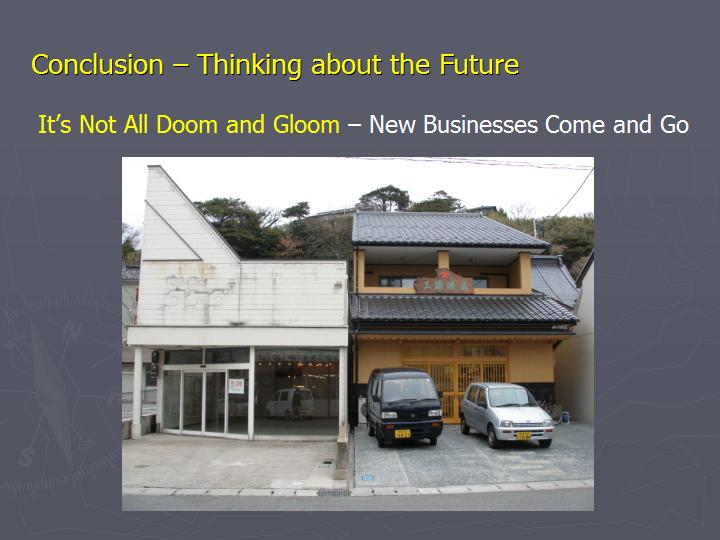 Page 19 : Conclusion - Thinking about the Future - New businesses