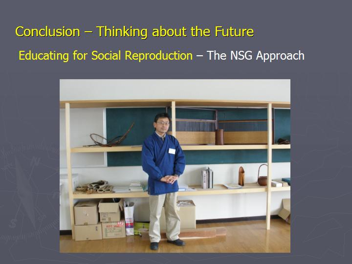 Page 20 : Conclusion - Thinking about the Future - Educating for Social Reproduction