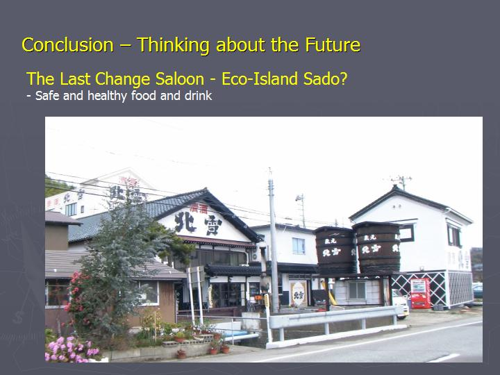 Page 21 : Conclusion - Thinking about the Future - Eco-Island Sado: bio foods and drinks production