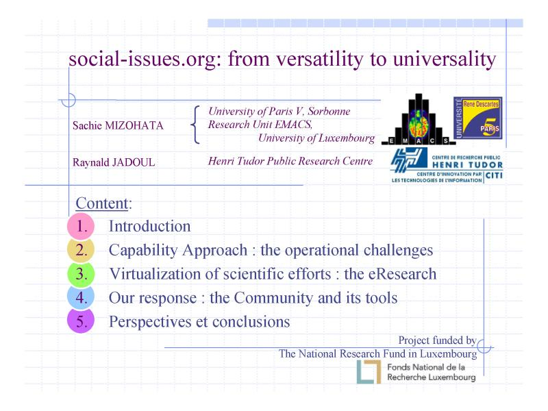 "cover page titled ""social-issues.org: from versatility to universality"" (find more info in the comments section)"