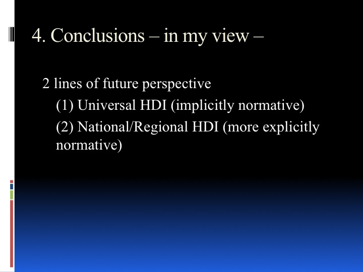 Towards a New HDI - historical review and future perspective - page 31: