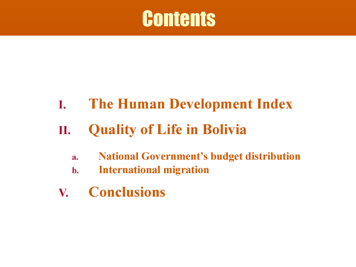 Towards Other Ways of Measuring Human Development - page 2: Table of Contents