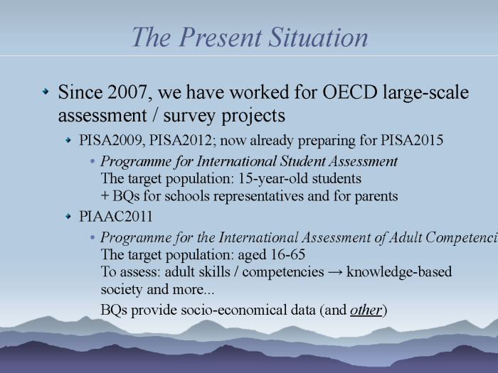 eResearch: Strategies to model and monitor human progress - page 5: the present situation