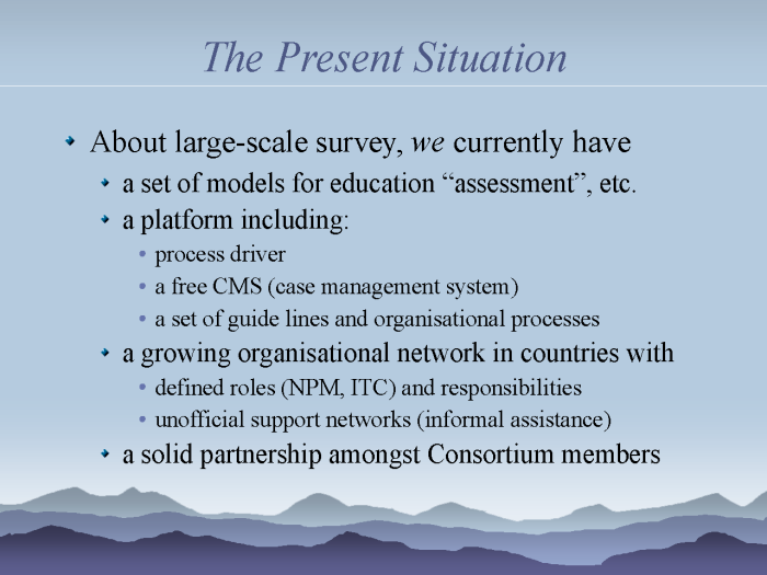eResearch: Strategies to model and monitor human progress - page 8: the present situation