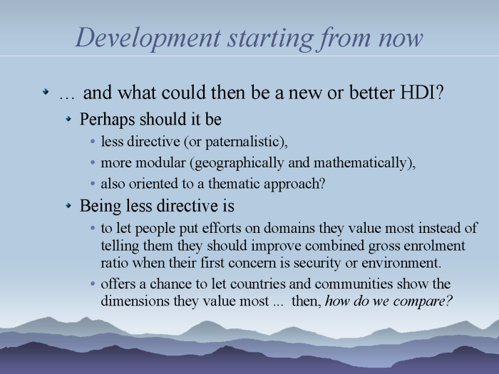 eResearch: Strategies to model and monitor human progress - page 11: a new HDI - development starting from now