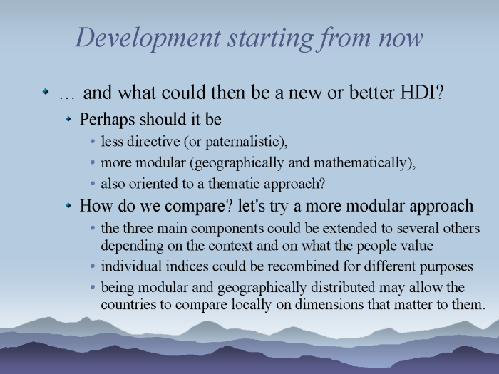 eResearch: Strategies to model and monitor human progress - page 12: a new HDI - how do we compare