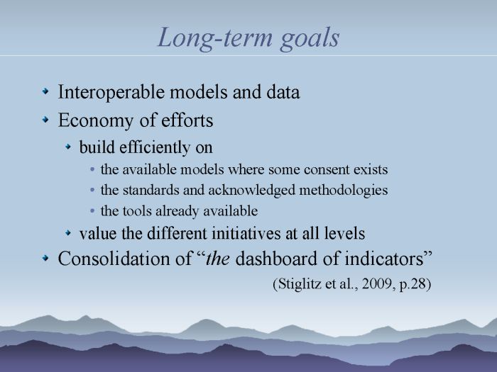 eResearch: Strategies to model and monitor human progress - page 20: long-term goals