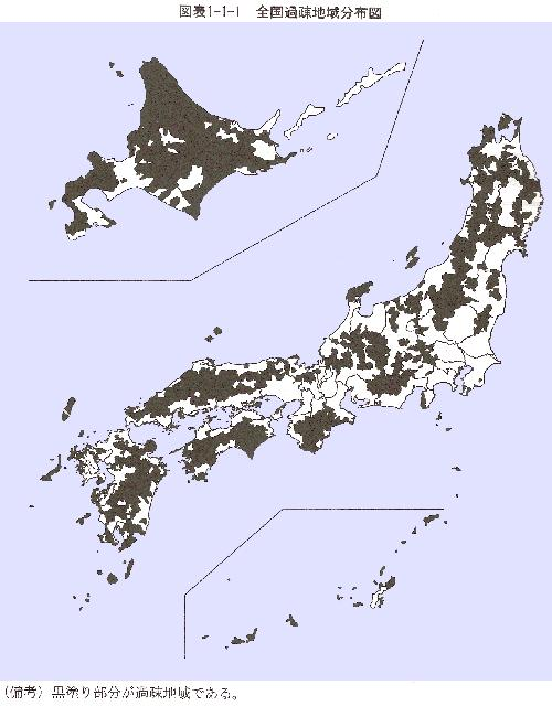 Map of Japan showing the Kaso areas (click to enlarge)