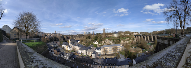View from the balcony called Corniche in Luxembourg city