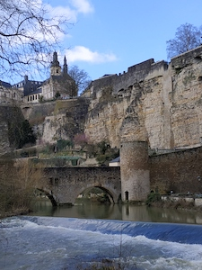 the fortified bridge named Stierchen breck near Neumunster in Luxembourg