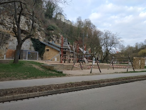 Playground closed in Petrusse as a consequence of COVID19